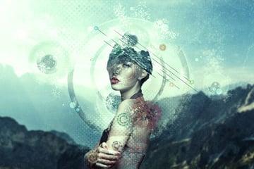 Abstract Portrait Manipulation by Wendy Van Den Elzen