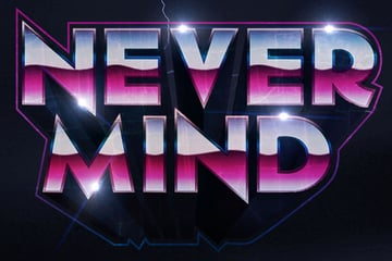1980s Inspired 3D Text Effect