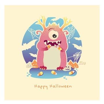 Adobe Illustrator Halloween Monster by Meg Tannahill