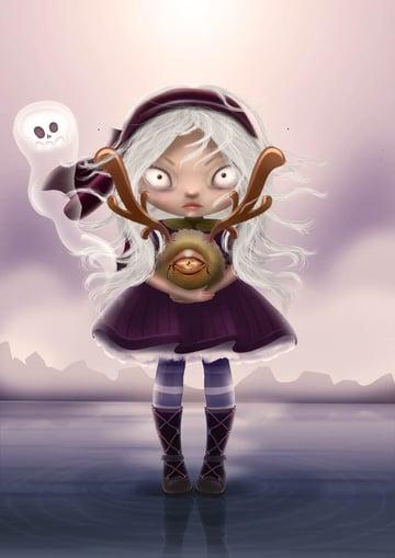 Childrens Halloween Illustration by Lena
