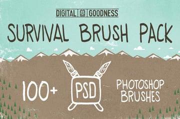 PSD Survival Brush Pack