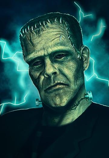Frankenstein Art by Melody Nieves