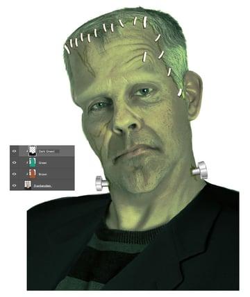 Change Frankensteins Color to Green