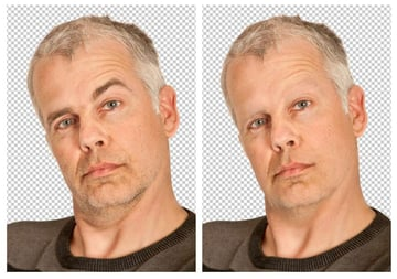 Remove Facial Hair with the Stamp Tool