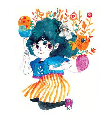 Watercolor Characters art by Daniela Arias