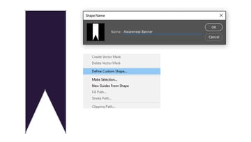 Convert the Banner to a Shape in Photoshop