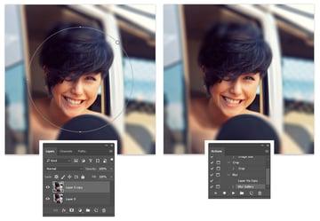 Create a Blur Photoshop Action