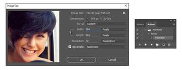Create a Photoshop Action that Resizes Photos