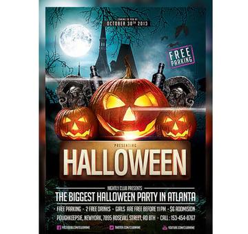 Pumpkin Trio Halloween Party Template