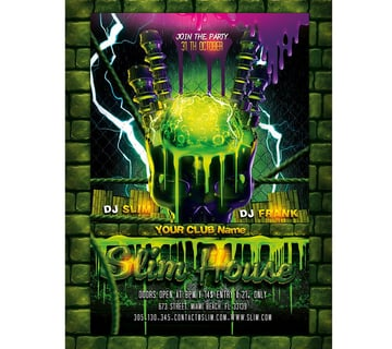 Slime Halloween Party Flyer