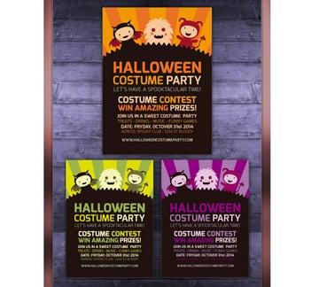 Cute Halloween Party Invitation