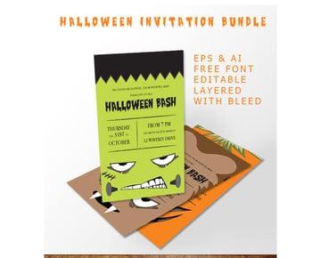 Simple Halloween Bash Invitation Bundle