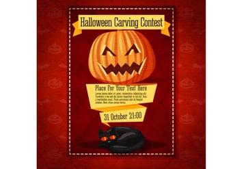 Pumpkin Carving Halloween Invitation