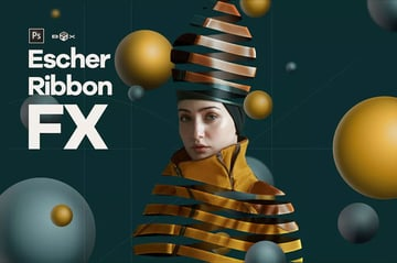 Escher Ribbon FX Photoshop Action  httpselementsenvatocomescher-ribbon-fx-photoshop-add-on-extension-QANQX6