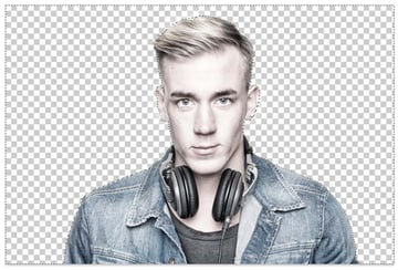 Delete the white background with the Magic Wand Tool