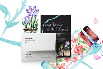 Spring Wedding Invitation Card