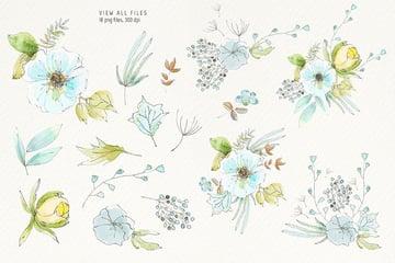 Morning Flowers Clip art