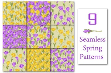 Crocus Spring Flowers collection