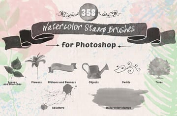 Floral Watercolor PS Stamp Brushes