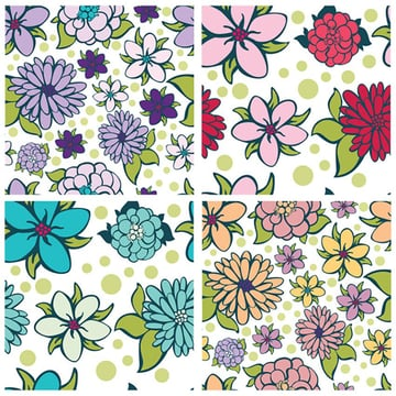 Vector Flower Patterns