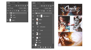 Photo Grid Layers in Adobe Photoshop