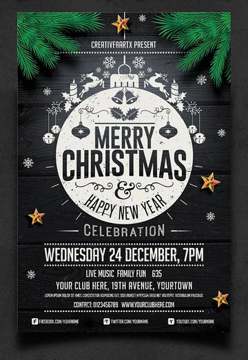 Simple Christmas Party Flyer