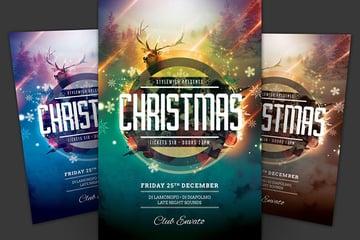 Reindeer Christmas Flyer