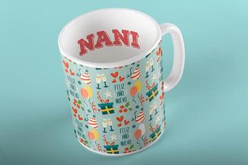 Holiday Themed Pattern Mug Design by Alicia Hermelibus