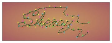Christmas Lights Text Illustration by Illiterate Awan