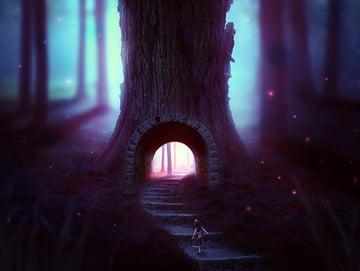 Fantasy Forest Photo Manipulation by Kathy Macchiato