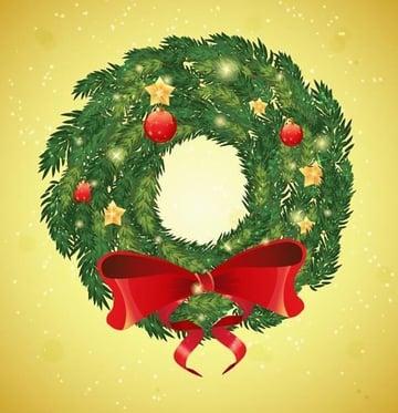 Vector Christmas Wreath by Piq Design