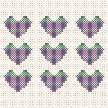 Vector Cross Stitch Effect by Sasha
