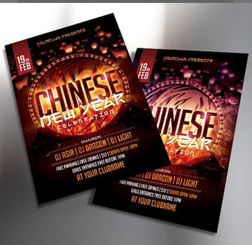 Chinese New Year Celebration Flyer