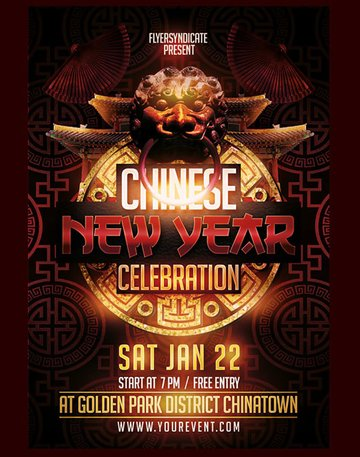 Ancient Chinese New Year Flyer