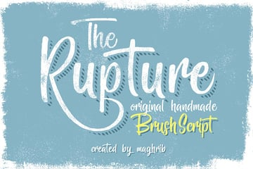 The Rupture Font