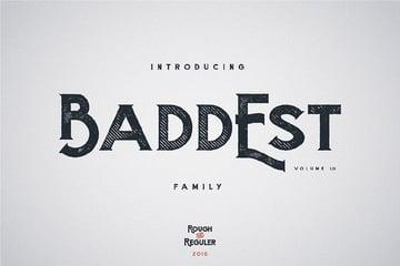 Baddest typeface