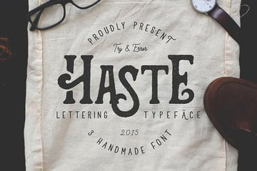 Haste - 3 Handmade Fonts