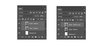 Merging Layers and Creating Duplicates for the Wavy Distortion