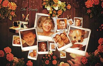 Retro Photo Collage Template
