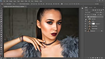 Adjusting the Group Layers of a Photoshop Action