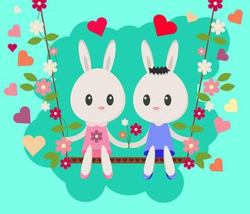 Valentines Day Bunny Illustration by Joshua