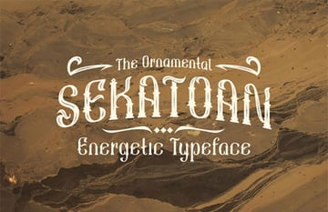 Sekatoan Energetic Typeface