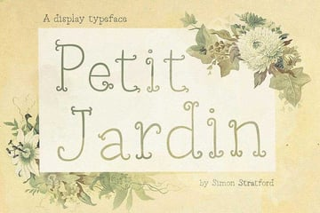 Petit Jardin Font