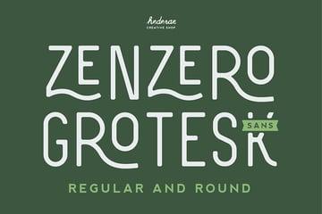 Zenzero Sans Font Best Tattoo Fonts