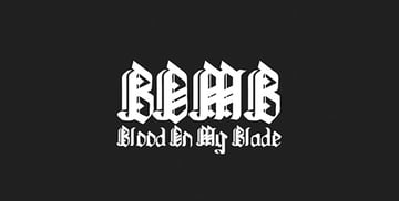 BloodOnMyBlade Tattoo Ink Font