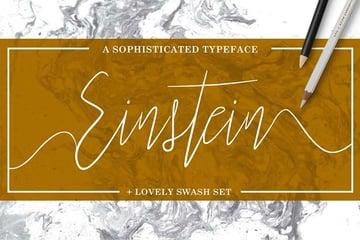 Einstein Tattoo Fonts Cursive Elegant