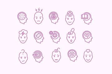 15 Mental Health Icons