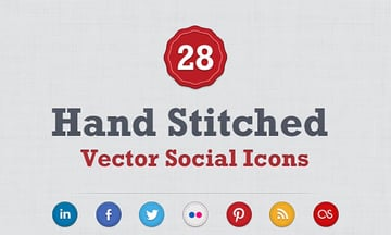 Hand Stitched Social Media Icons
