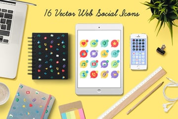 16 Web Social Media Icons