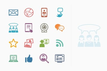Social Media Icons Set 1 - Colored Series